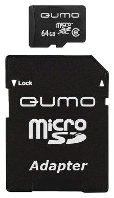 Qumo microSDXC class 6 + SD adapter