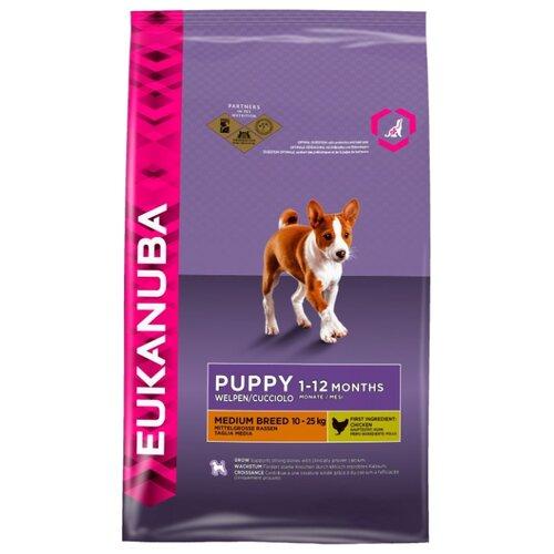 Корм для собак Eukanuba (15 кг) Puppy Dry Dog Food For Medium Breed ChickenКорма для собак<br>