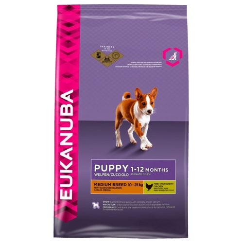 Eukanuba (15 кг) Puppy Dry Dog Food For Medium Breed Chicken Корма для собак