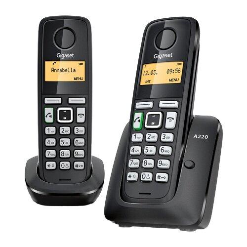 Купить Радиотелефон Gigaset A220 Duo черный