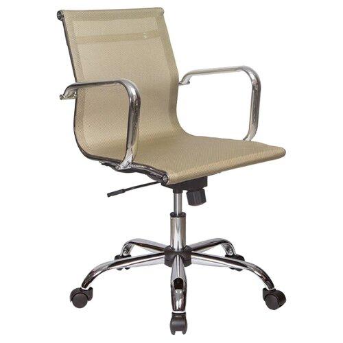 Компьютерное кресло Бюрократ CH-993-Low (обивка из сетки) для руководителя, обивка: текстиль, цвет: gold