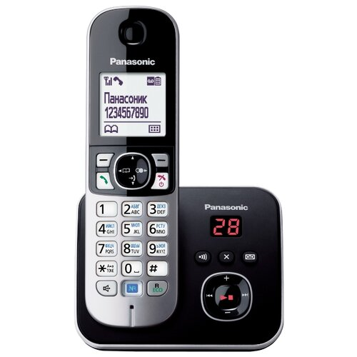 Радиотелефон Panasonic KX-TG6821 черный