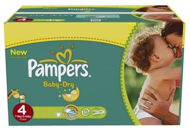 Pampers Baby Dry 4 (7-18 кг)