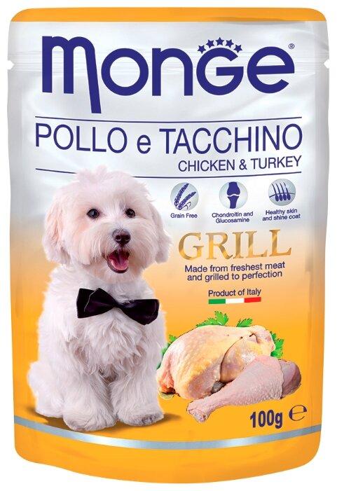 Monge Grill – Влажный корм для собак из курицы и индейки (0.1 кг) 1 шт.