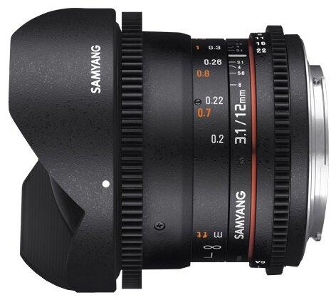 Samyang Объектив Samyang 12mm T3.1 ED AS NCS VDSLR Fish-eye Pentax K