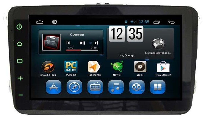 FarCar s180 Volkswagen, Skoda на Android 4.4 (q370)