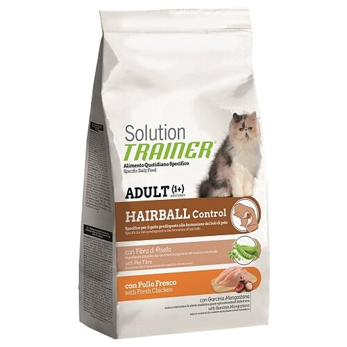 Корм для кошек TRAINER Solution Adult cat Hairball control with Fresh Chicken dry (1.5 кг)Корма для кошек<br>