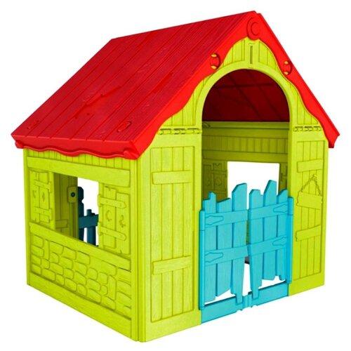 Купить Домик KETER Foldable 17202656 зелено-красный, Игровые домики и палатки