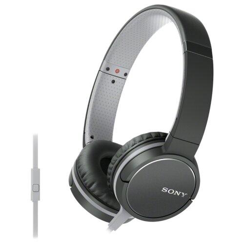цена на Наушники Sony MDR-ZX660AP черный/серый