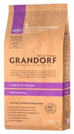 Grandorf Ягнёнок с рисом Макси (12 кг)
