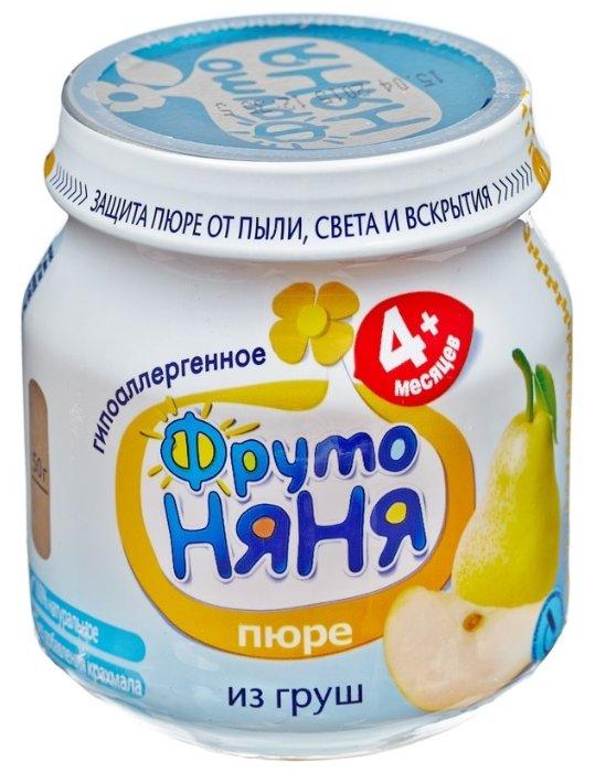 ФрутоНяня Из груш натуральное гипоаллергенное (с 4 месяцев) 100 г, 12 шт