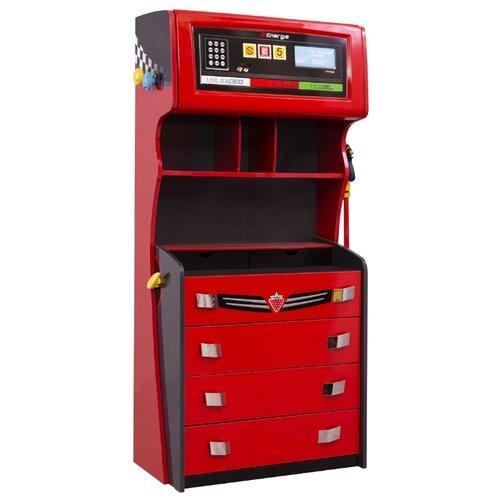 Купить Бельевой комод Cilek Champion Racer CRC-1201 красный/черный, Детские комоды