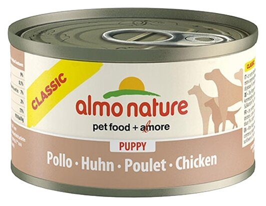 Корм для щенков Almo Nature Classic курица 24шт. х 95г