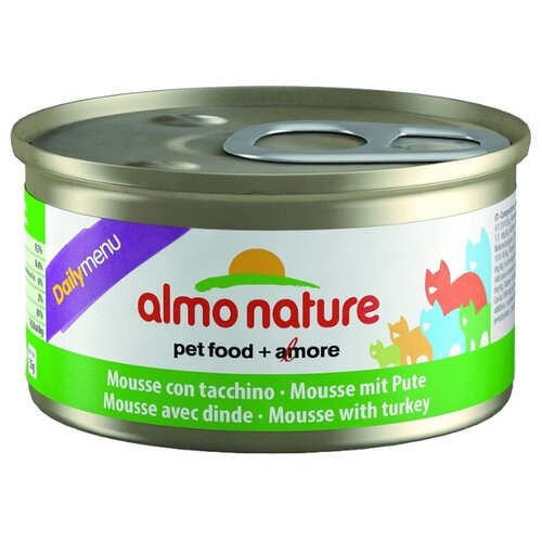 Влажный корм для кошек Almo Nature Daily Menu, беззерновой, с индейкой 85 г