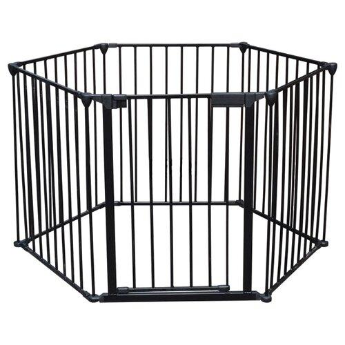 Купить Манеж-ширма Safe & Care Трансформер 6 элементов черный, Манежи