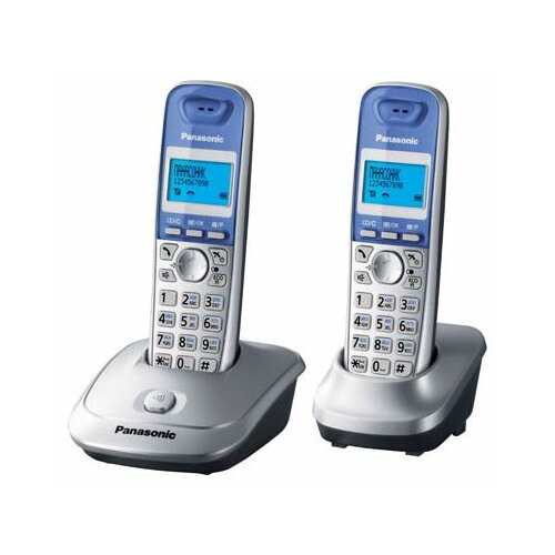 Радиотелефон Panasonic KX-TG2512 серебристый