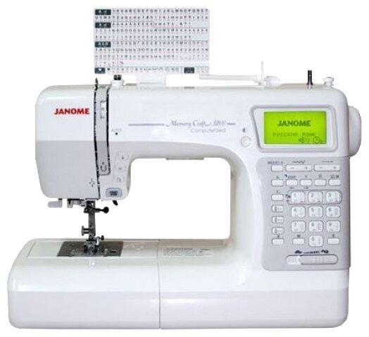 Швейная машина Janome Memory Craft 5200 белый