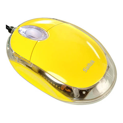 Мышь Saitek Notebook Optical Mouse Yellow USB