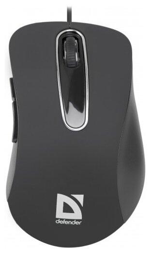 Проводная оптическая мышь Defender #1 MM-310 черный, 3 кнопки, 1000 dpi