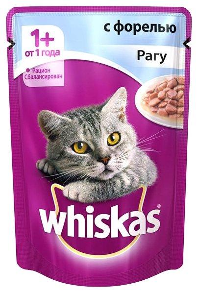 Whiskas Рагу с форелью для взрослых кошек (0.085 кг) 1 шт.