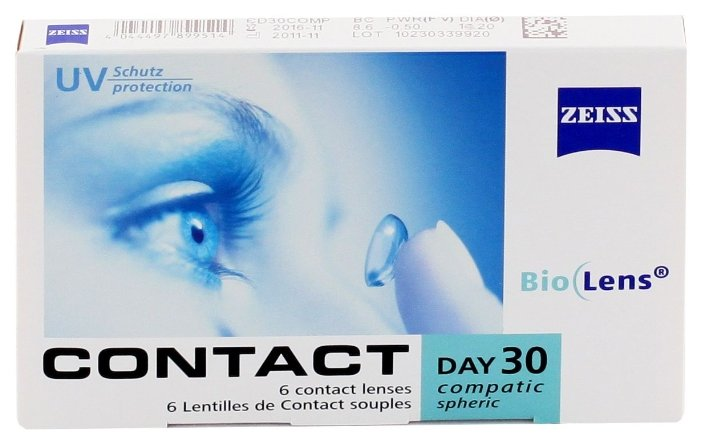 Carl Zeiss Contact Day 30 Compatic (6 линз)