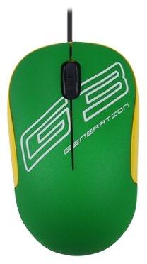 Мышь G-CUBE GLV-330G Green USB