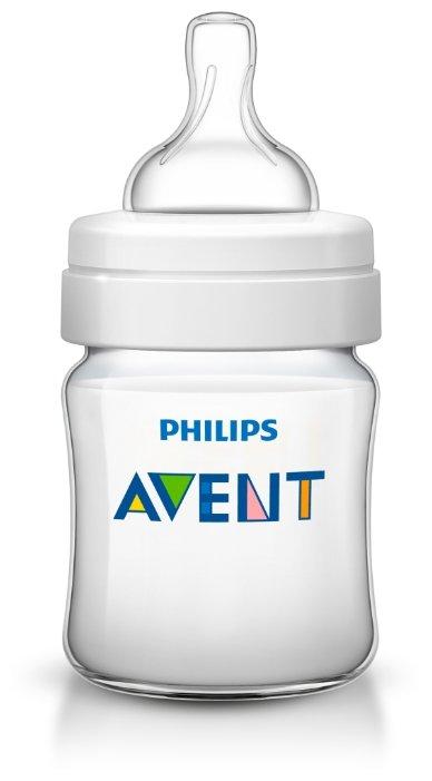 Philips AVENT Бутылочка полипропиленовая Classic+, 125 мл SCF560/17 с рождения