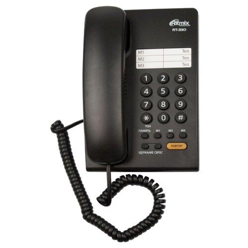 Телефон Ritmix RT-330 черный