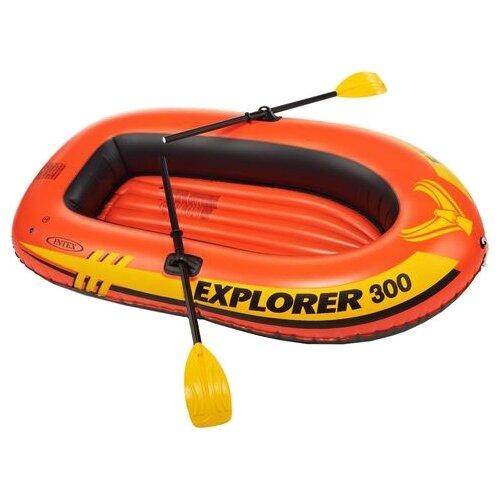 цена на Надувная лодка Intex Explorer-300 Set (58332) оранжевый