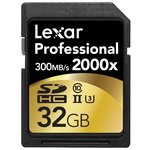 Карта памяти Lexar Professional 2000x SDHC UHS-II + SD UHS-II reader