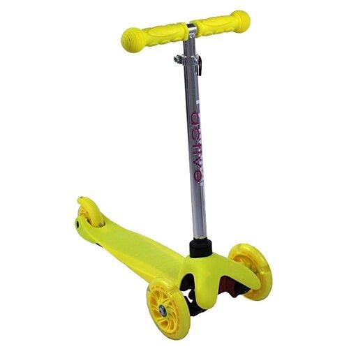 Детский кикборд Triumf Active Mini Up Flash SKL-06AH, желтый детский кикборд triumf active mini up flash skl 06ah оранжевый