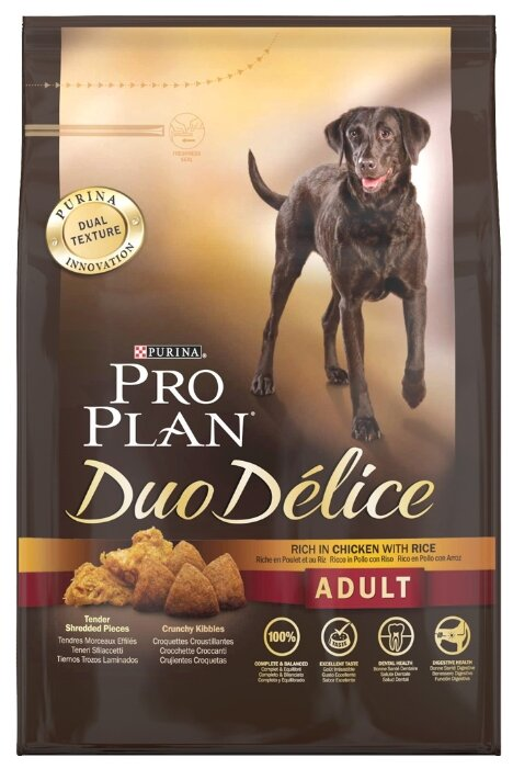 Purina Pro Plan Duo Delice Adult сanine rich in Chicken with Rice dry (2.5 кг)