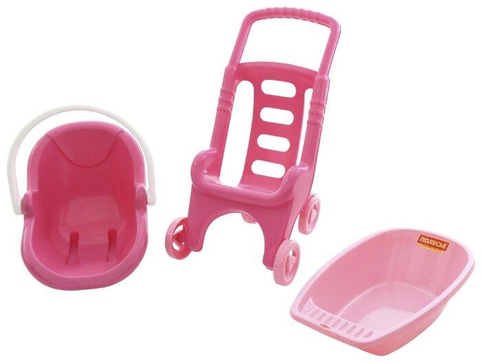 Прогулочная коляска Полесье Pink Line 3x1 (42842)