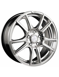 Диски Racing Wheels H-411 6,5x15 5x105 D56.6 ET39 цвет BK/FP - фото 1