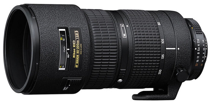 Объектив Nikon 80-200mm f/2.8D ED AF Zoom-Nikkor — купить по выгодной цене на Яндекс.Маркете