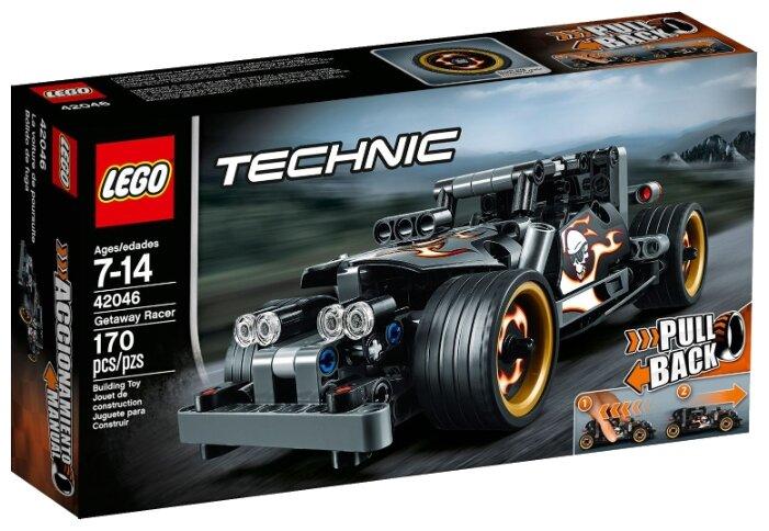Классический конструктор LEGO Technic 42046 Гоночный автомобиль для побега