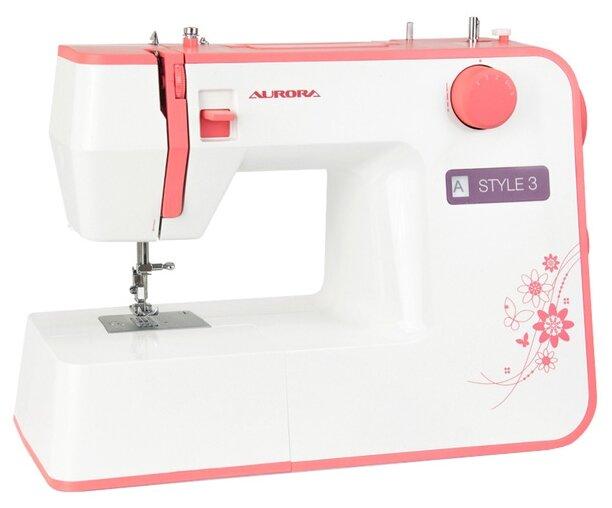 Швейная машина Aurora STYLE 3, бело-розовый
