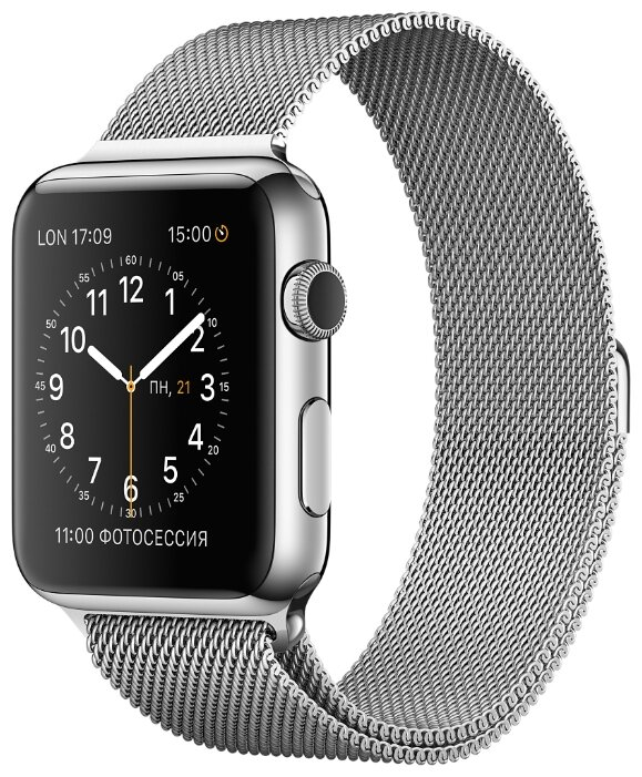 Apple Watch 42mm Milanese Loop MJ3Y2 Silver