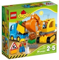 Конструктор LEGO Duplo 10812 Грузовик и гусеничный экскаватор