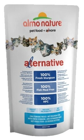 Корм для кошек Almo Nature Alternative Adult Cat 55% Sturgeon and Rice