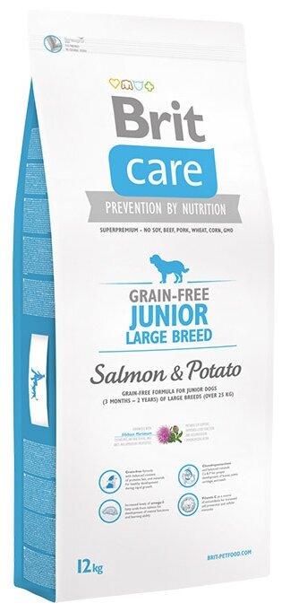 Корм для собак Brit Care лосось с картофелем 12 кг (для крупных пород)