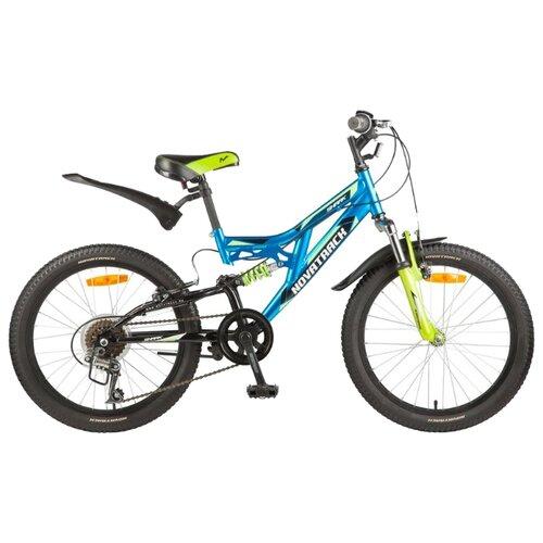 Подростковый горный (MTB) велосипед Novatrack Shark 20 6 (2017) синий (требует финальной сборки)Велосипеды<br>