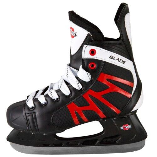 Хоккейные коньки Novus AHSK-17.01 Blade черный/красный/белый р. 40