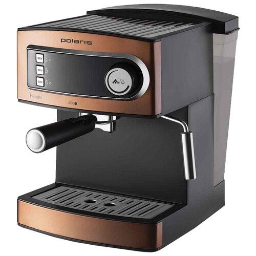 Кофеварка рожковая Polaris PCM 1515E Adore Crema бронзовый фото