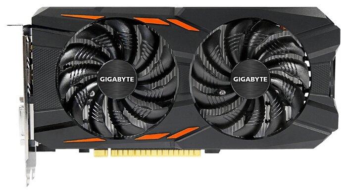 GIGABYTE GeForce GTX 1050 1392Mhz PCI-E 3.0 2048Mb 7008Mhz 128 bit DVI 3xHDMI HDCP Windforce OC