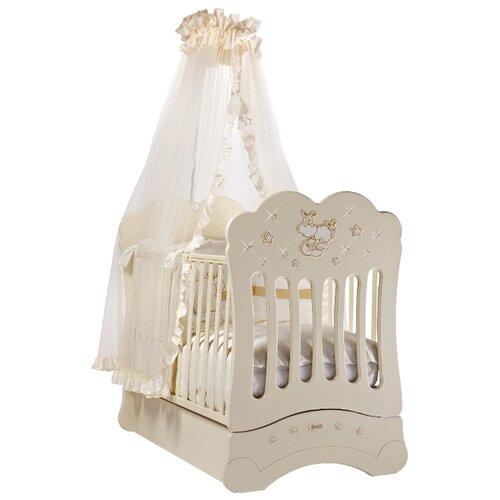 цена на Кроватка Feretti Etoile FMS (качалка), продольный маятник слоновая кость