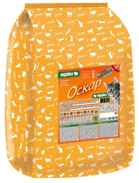 Оскар Сухой корм для кошек Индейка (10 кг)