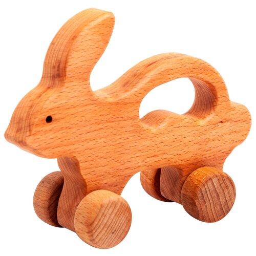 Купить Каталка-игрушка Волшебное дерево Заяц на колесах (54vd02-07) дерево, Каталки и качалки