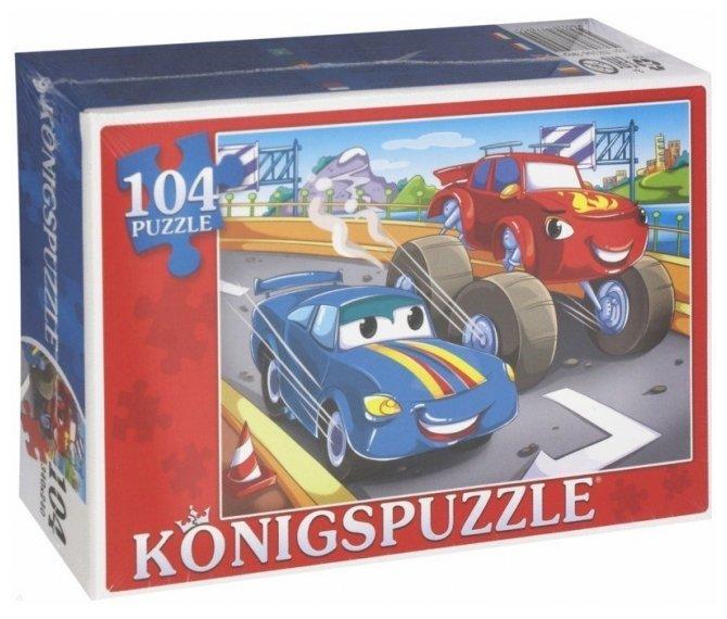 Пазл Рыжий кот Konigspuzzle Джип и тачка (ПК104-7895), 104 дет.