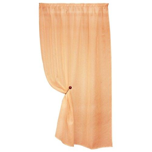 Тюль Kauffort Basicos на тесьме 170 см оранжевый
